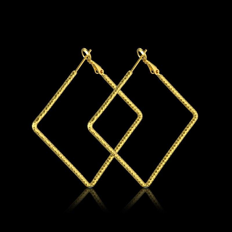 Supernatural Geometry Big Hoop Earrings Gold Color Women Jewelry Brincos,Large Basketball Wives Hoop Earrings Sale EH226
