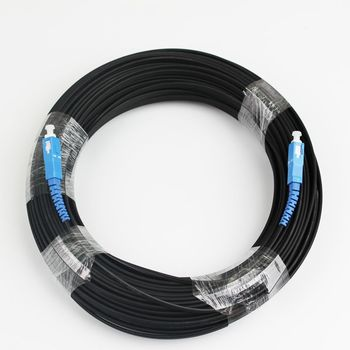 50 M SC Simplex gota FTTH Cable al aire libre monomodo Cable de parche de fibra óptica