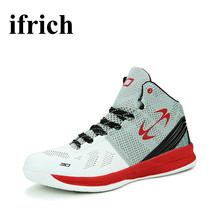 Sport Trainers Leather Basketball Shoes For Man Skid-Resistance Professional Big Size Mens Sneakers