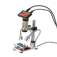 Носовой 3,0 3,0 Мп электронный цифровой микроскоп 1080 дюймов ЖК дисплей 300 P светодио дный для Электрический паяльник паяльная станция