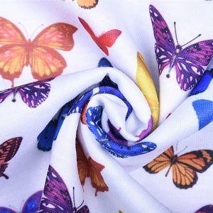 Женский сексуальный укороченный Топ без бретелек с открытыми плечами и разноцветным принтом бабочки, бандо с вырезом лодочкой, тонкие пляжные вечерние мини-платья в уличном стиле