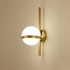 Image 1 - BEIAIDI Vintage Industrial Glass Globe Wall Light Nordic Moon Planet Wall Lamp Bedroom Bedside Sconce Bathroom Mirror Headlight