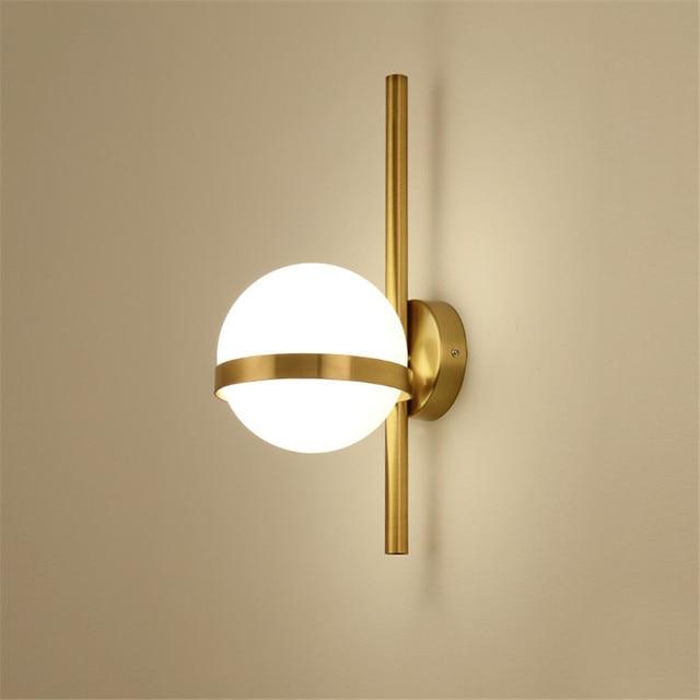 BEIAIDI Vintage Industrial Glass Globe Wall Light Nordic Moon Planet Wall Lamp Bedroom Bedside Sconce Bathroom Mirror Headlight
