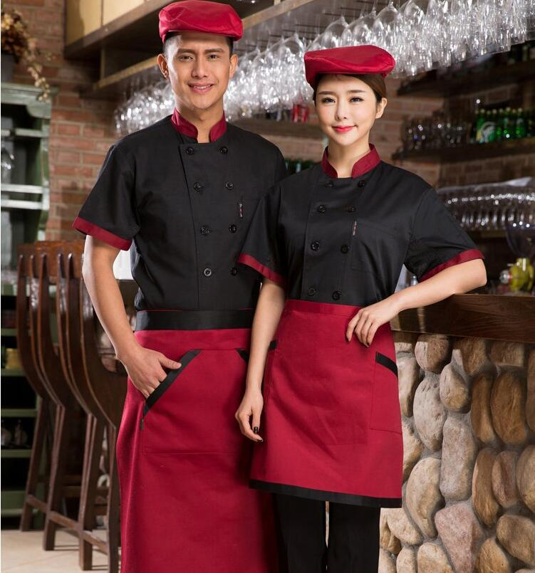Image 4 - New Chef Jacket Hotel Restaurant Work Wear Double breasted Mens Kitchen Chef Uniform Cook Clothes Food Services Frock Coats 89-in Chef Jackets from Novelty & Special Use