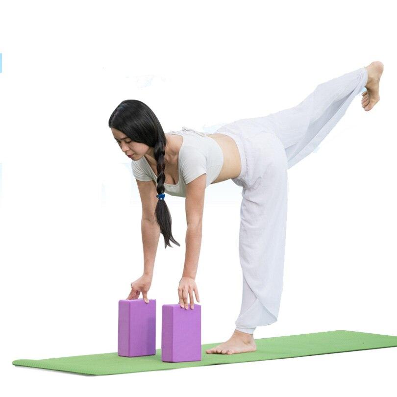 <+>  Ева блок йоги кирпич пены пены для дома упражнения фитнес тренажерный зал фитнес инструмент 23   15  ✔