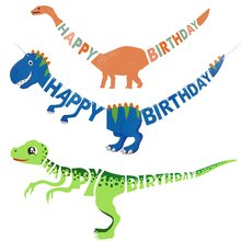 Dinosaur Party Supplies Balloons accessories Paper Garland Banner for Boy Birthday Party Decoration jurassic world jungle decor(China)