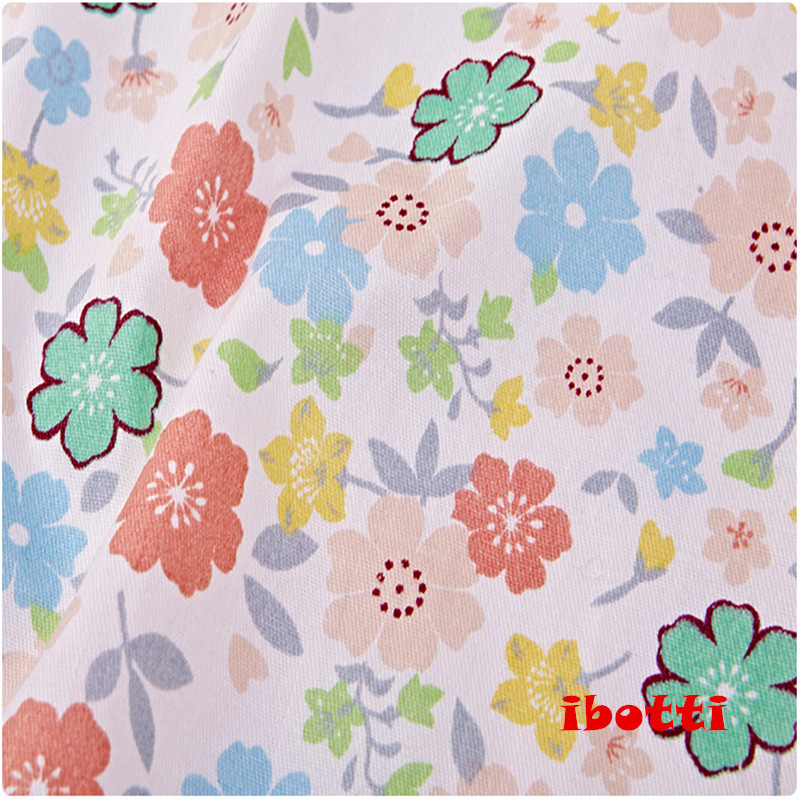 ibotti 4db / Lot 40 * 50cm Rózsaszín Virágos Plaid-sorozat 100% - Művészet, kézművesség és varrás - Fénykép 4