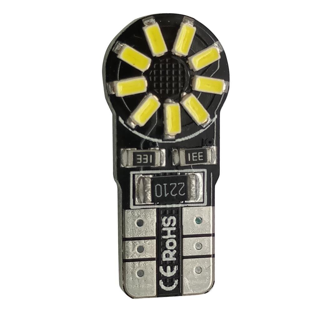2Pcs Super White T10 W5W 194 921 3014 18SMD Canbus No Error car LED Light Bulbs 12V DIY