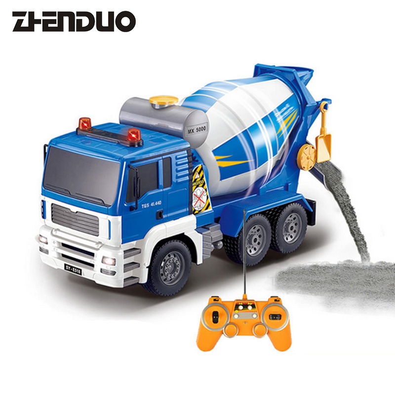 ZhenDuo Toys E518-001 1:20 Remote Control Engineering Vehicle Mixer Car Rechargeable Electric Toy