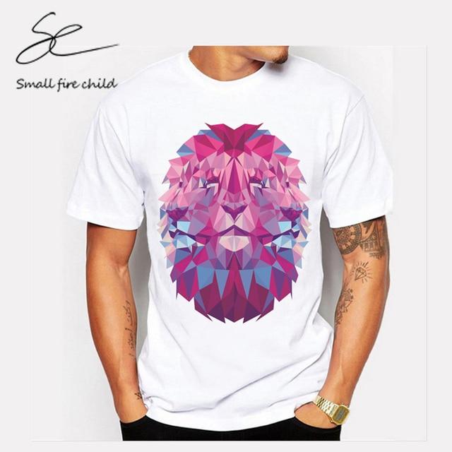 Sommer persönlichkeit trend tees geometrische nähen lion muster ...