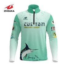 Maréchal personnalisé hommes maillots de pêche t shirts Sublimation impression nom numéro respirant chemise de pêche Camisa Para Pesca