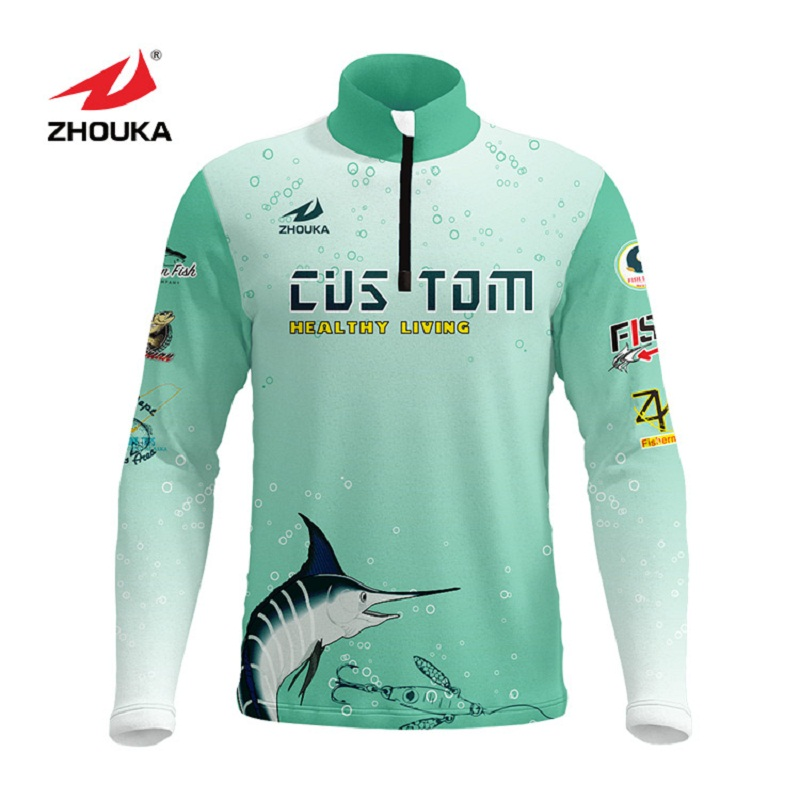 Marshal Customized Men Fishing Jerseys T Shirts Sublimation Printing Name Number Breathable Fishing Shirt Camisa Para Pesca-in Fishing Clothings from Sports & Entertainment