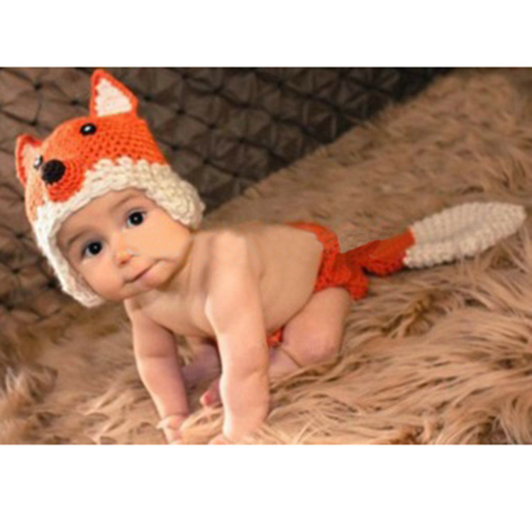 Baby Clothing Photography Prop Cartoon Wolf Knitting Crochet Woolen Costume For Newborn Baby Children Photo Props Infant Beanie fashion tortoise style handmade crochet knitting beanie hat clothes set for baby
