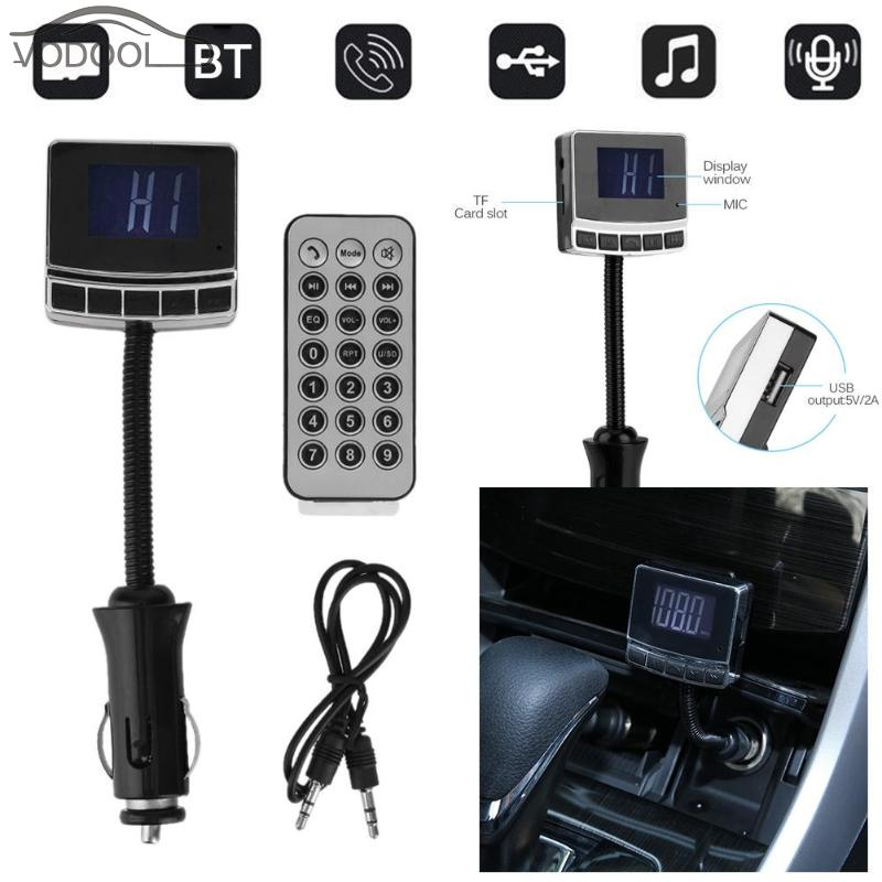 VODOOL Wireless Bluetooth Handsfree Car Kit FM Transmitter Modulator MP3 Player USB Car-charger Auto AUX TF Card Music Player