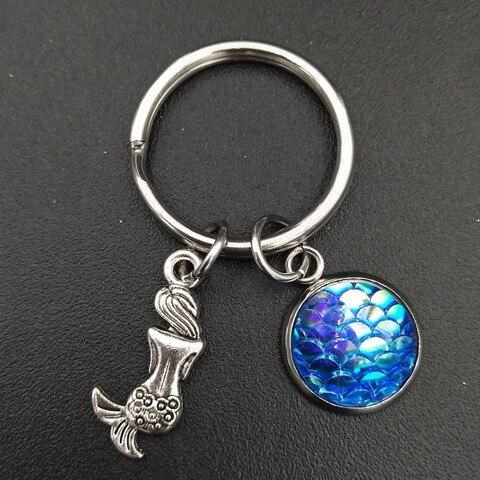 Купить летний пляжный стиль русалка и голубые весы очаровательный брелок