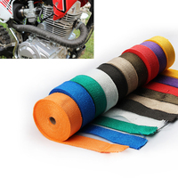 FREE SHIPPING CAR MOTORCYCLE Incombustible Turbo MANIFOLD HEAT EXHAUST WRAP TAPE THERMAL STAINLESS TIES 1.5mm*50mm*5m