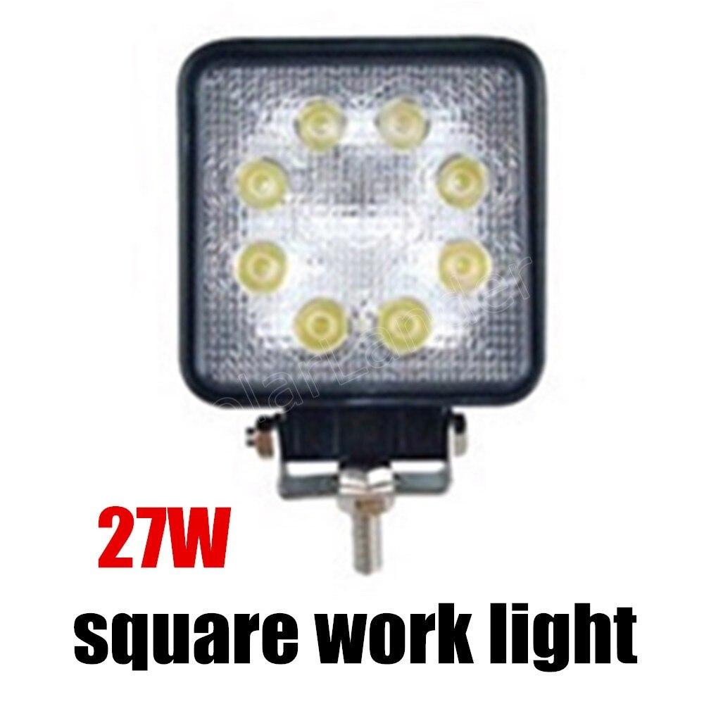ФОТО best selling 1 piece ATV 27W led work light lamp 12V 24V LED tractor work lights spot Flood offroad accessories car truck
