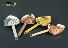 3 Different Surface Finish Stainless Steel Bar Strainer For Cocktail Drink Bartender kit And Accessory