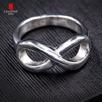 Top Selling Classic Infinity Ring In Stainless Steel Wedding Promise Ring For Women Stainless Steel Ladies