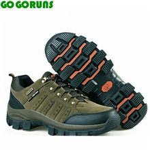 Men outdoor sport hiking shoes waterproof hunting trekking trail leather breathable rock climbing trail outventure travel shoes