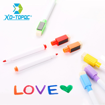 XinDi WhiteBoard Marker Pen 8 Colors Ink Brush Head With Magnets Dry Whiteboard Pens Easy Erasable Markers Free Shipping WP01