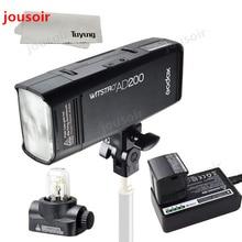 Godox AD200 200Ws GN60 HSS флэш Strobe Встроенный 2,4G Беспроводной X Системы для достижения ttl и X1 передатчик для C/N/S/F/O CD45