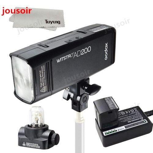 Godox AD200 200Ws GN60 HSS Flash stroboscope intégré 2.4G sans fil X système pour atteindre TTL et X1 émetteur pour C/N/S/F/O CD45