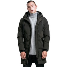 Fashion Winter Jacket Men Long Thick Warm Parka Coats Mens High quality Hooded jacket black Grey 4XL Quality brand clothing