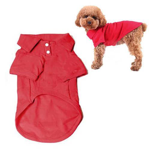 1 ピースかわいいペット子犬ポロシャツ小型犬猫ペット服コスチュームアパレル Tシャツ犬用品