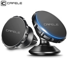 Cafele Original Universal Magnetic Car Phone Holder 360 Degree Rotation Magnet Car Mount Holder for iPhone Samsung Smart Phone(China)