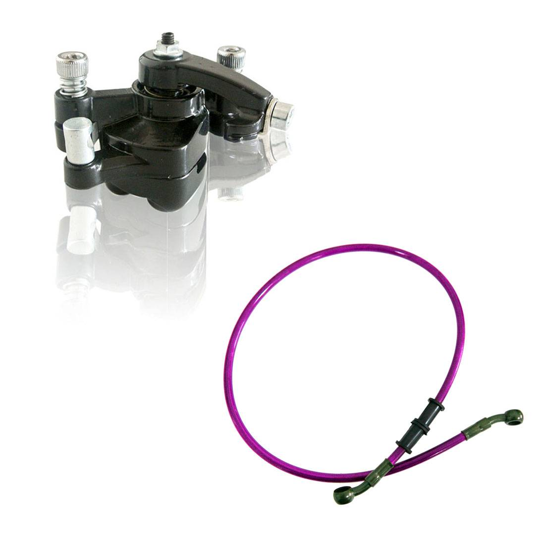 80cm Oil Brake Fuel Line Rear Disc Brake Caliper W/ Pad 47cc 49cc Mini PIT Dirt Quad