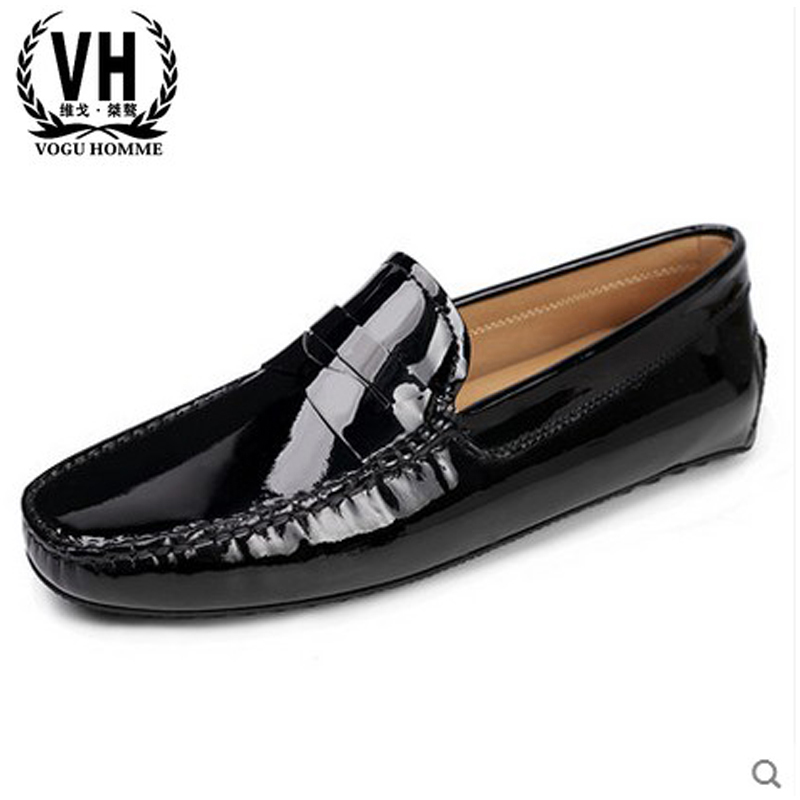 In the spring of 2017 the new patent leather shoes Doug leisure loafer set foot drive shoes for Europe in the spring of 2017 the new england doug shoes breathable casual shoes set foot lazy sailing shoes driving shoe