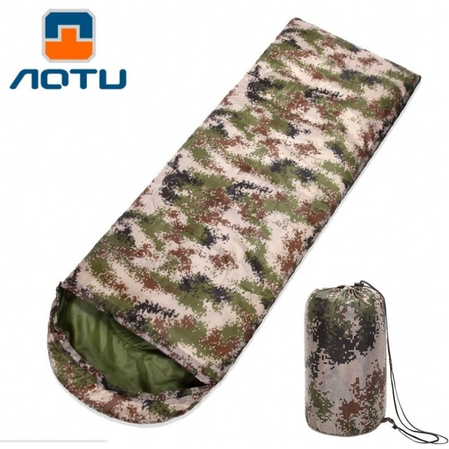 Envelope camouflage Sleeping Bag Lightweight Water proof Sleeping Bag Outdoor Camping Adult Keep Warm Travel Compression Sack