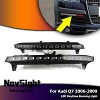 Novsight autp автомобиля светодиодный DRL вождения Дневной Бег противотуманная белый желтый для Audi Q7 2006 2009 D20