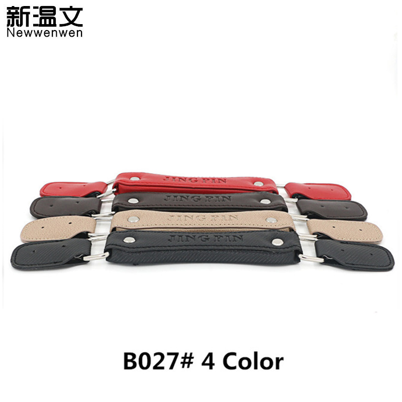 29f438ccc200 US $25.83 12% OFF Replacement Trolley Luggage Repair Parts Handles Suitcase  Accessories PU Leather Knopper bags Portable Handles Trolley B027#-in Bag  ...