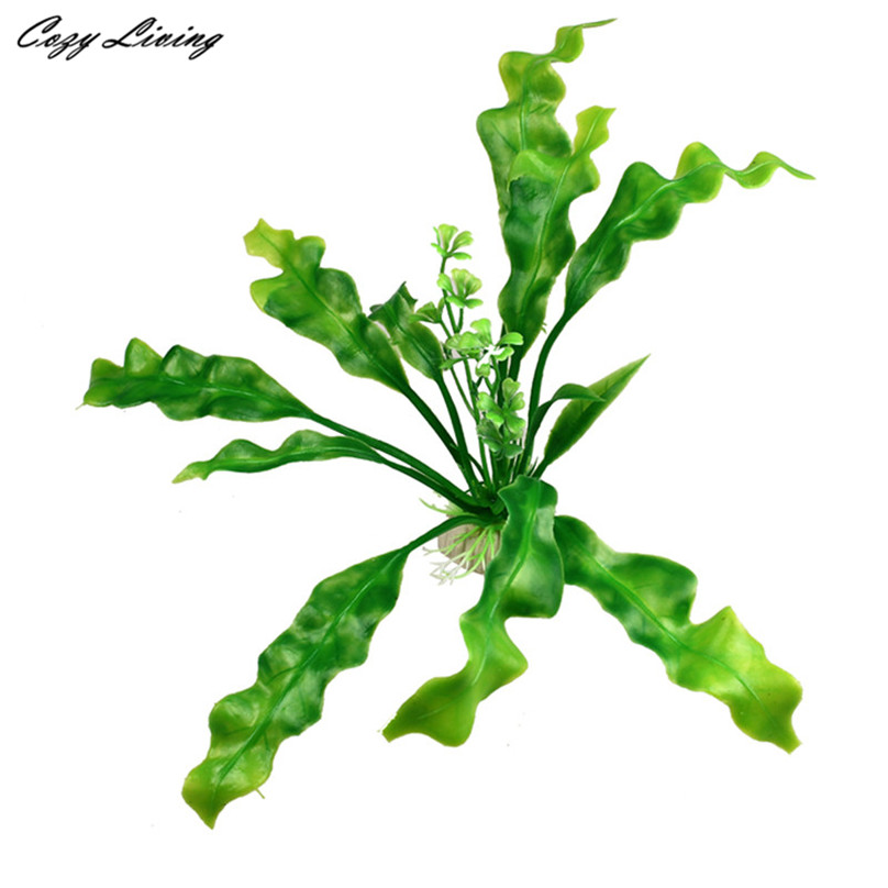Fish aquarium plants 1 pc artificial plastic water plant for Fake pond plants