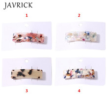 Acetate Marble Texture Women Hairpin Simple Hair Jewelry Girls Bangs Clip BB