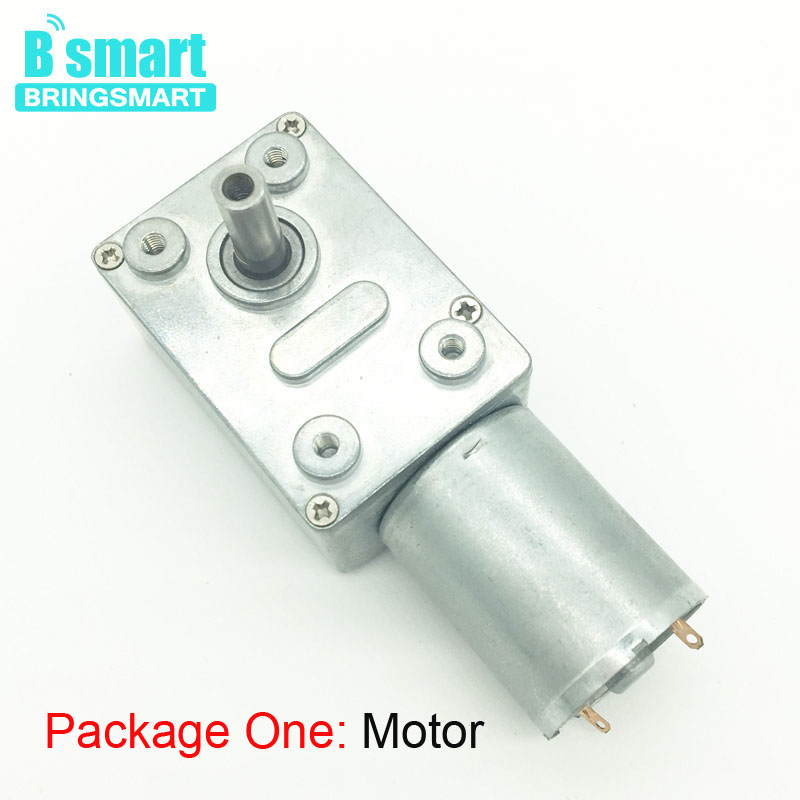 цена на BringSmart JGY-370 Worm DC Motor Turbo Drive High Torque Mini Gear Motor 12v 3RPM / 40RPM Geared Worm Reduction Motor Self-lock