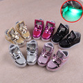 Niños shoes 2017 primavera gatito de dibujos animados muchachos del led emisor de luz y niñas kids light up shoes light up shoes para childre