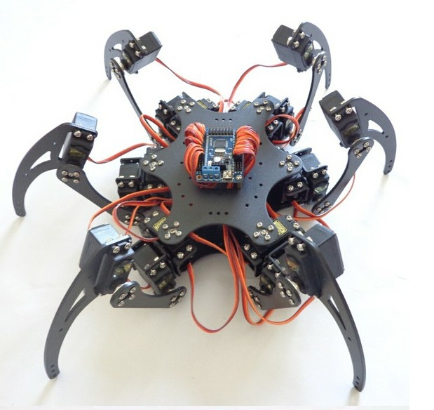 Official smarian F17328 18DOF Aluminium Hexapod Robotic Spider Six Legs Robot Frame Kit without Remote Controller