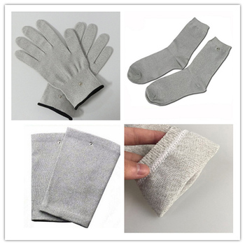 3Pairs/Set Electrode Therapy Gloves+Socks+Knee Pads Health Electrotherapy Massage Phycical  Beauty Sports Antibacterial