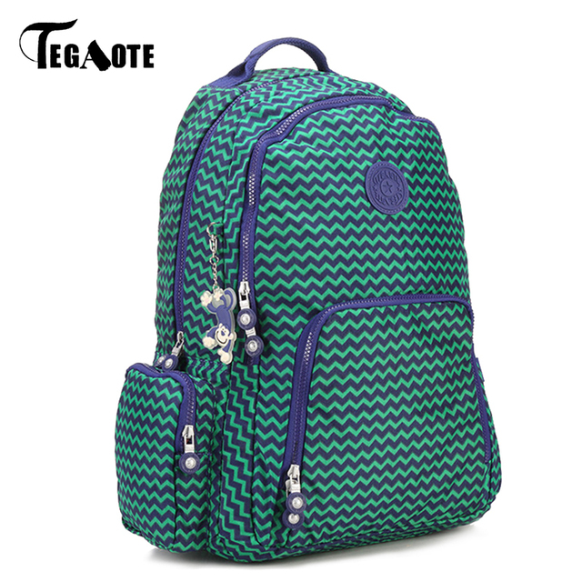 TEGAOTE Newest Light Nylon Waterproof Backpack for Teenage Girl ...