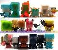Aleatória enviar 10 pçs/lote 1.5-3 CM de alta qualidade juguetes de minas artesanato Brinquedo de Montagem de brinquedos Bloco de Construção conjunto De Brinquedos figura de ação DO PVC conjunto
