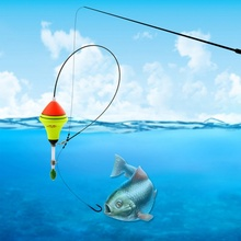 1Pcs Automatic Fishing Float Long Water Drop Carp Professional Nano EVA Tackle Night Light Luminous Fish