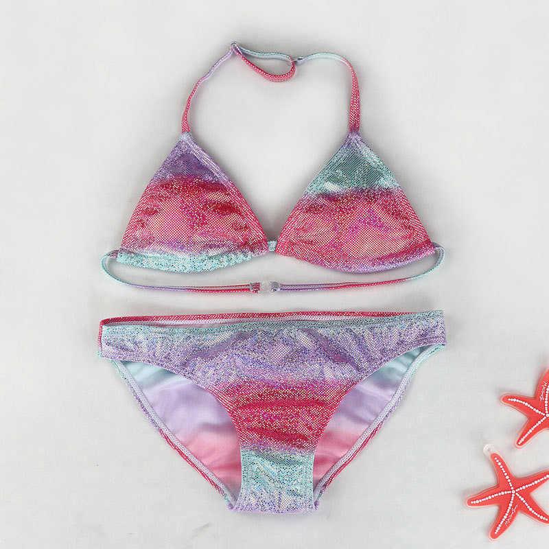 7143ee12247df ... Ms.Shang Bling Mermaid Girl Bathing Suit 8-16 Years Teenage Girl Bikini  Two ...