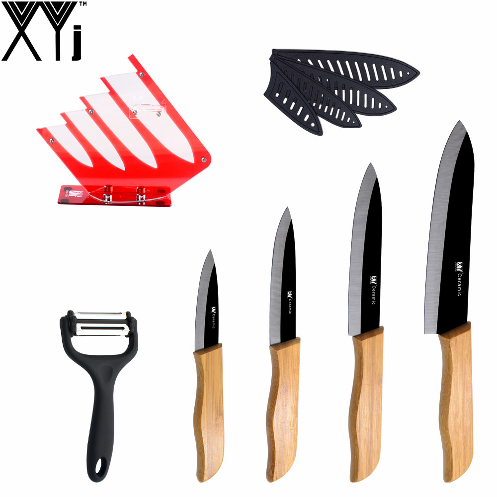 aliexpress com buy xyj acrylic red kitchen knife stand durable