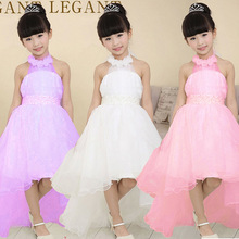 2016 Top Fashion New Girl Dress Summer High-grade Wedding Dresses Children Embroidered Party Dresse Bridesmaid Dress110-160cm