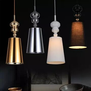1 Light Simple modern cloth Matal led Pendant light For bedroom dining room living room,Bulb Included,White Black Gold Silver yinxiang yx140 140cc engine clutch assembly yx 140 oil cooled engine parts chinese kayo apollo bse xmotos dirt bike pit bike