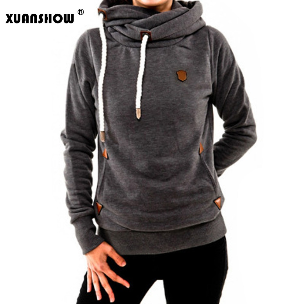 XUANSHOW Female Hoodies Sweatshirts 2019 Fashion Winter Thick Women's Long Sleeve Keep Warm Hooded Coat Casual Tops Plus Size