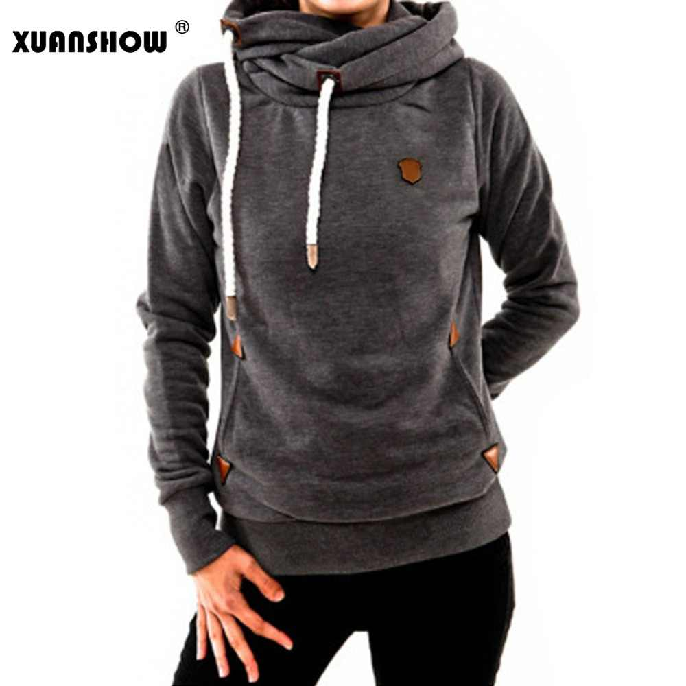 3735be9616d5a Detail Feedback Questions about XUANSHOW Lady's Hoodies 2018 New Fashion  Winter Women's Hoody Long Sleeve Keep Warm Hooded Female Tops Casual Plus  Size S ...
